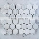 MM-CV261 Gold supplier customized flooring natural stone asian statuary hexagon marble mosaics tiles
