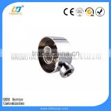 Small parts male female coupling wash basin above washing machine