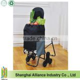 6 Wheels Stair Climber Foldable Shopping Trolley Bag With Chair