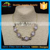 Artificial american diamond jewellery fast and furious colorful crystal chunky necklaces