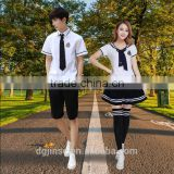 The college students summer white shirts suit japanese school girl custom design high school uniform
