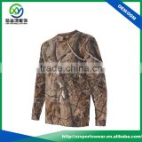 OEM custom full sublimation pattern long sleeve o-neck man sport t shirt with your own logo
