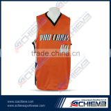 Basketball jersey uniform design color red