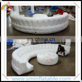 Wholesale led inflatable round sofa, inflatable lounge with led light, led furniture for sale