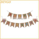 Event & Party Supplies Type White Happy Birthday Bunting Banner 2017s