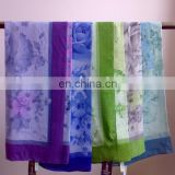 Soft Printed Polyester Voile Square Scarf For Laides