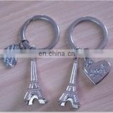Eiffel tower wedding aluminium alloy keychains