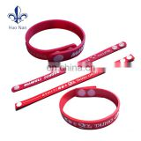 Promotional good quality personalized cheap custom silicone bracelet
