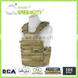 Military Paintball Airsoft 600D Black Molle Design Tactical Combat Mens Vest
