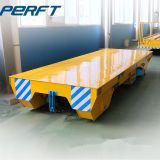 20 ton Steerable Electric Flat Rail Transfer Cart with Rail Guided Vehicle for plant material transport