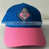 Women fashion embroidery pink and blue baseball caps Adjustable Size Flexible hats