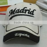 Fabric Baseball Hat with Printed Logo on Front