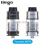 2016 Elego HOT Wholesale IJOY Tornado RDTA Tank / IJOY Tornado RTA with 5ml Capacity Delrin Wide Drip Tip