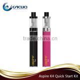 2016 Wholesale Original Aspire K2/ K3/ K4 Quick Starter Kit K4 quick e cigarette starter kit with Apire with Cleito Coil