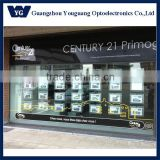Double Side LED Acrylic Displays Window LED Light Pockets for Real Estate Agency