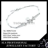 Snake design bracelet with fancy chain bracelet for girls fashion turkish 925 sterling silver bracelets with high polished chain
