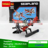 Decool bricks Airplane 116pcs Transport Series Helicopter Seapland Model Building Block Sets Educational DIY Toys for children