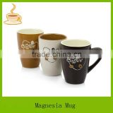 Mini heart design heat transfer printing v-shape ceramic porcelain coffee mug wholesale , T/T