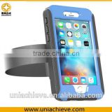 Waterproof Case for iPhone 6s plus Sports waterproof armband phone case with Full body covered blue