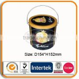 Big Round Popcorn Metal Tin Box
