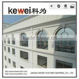 High heat resistant Double-side silver building window film covering with high UV protection