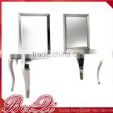 Luxury Salon Wall mirror with table barber shop hair salon mirror station with table for hairdressing hair salon equiment