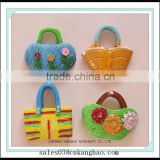 cute Handbag fridge magnets with strong magnet resin material
