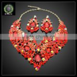 2016 New Arrival African Gold Plated Jewelry set which for Wedding jewelry set Match Clothes KHK868