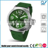 Build your watch brand easily stainless steel case japan movt watch prices rubber band 10ATM water resistant