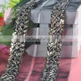 fashion handmade clothing decorative wholesale bead and sequin trim WTP-1341