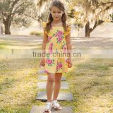 New year latest flower dress designs for kids,Baby girls Latest party dress long sleeved maxi dress for kids