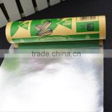 laminated food grade plastic film / printing snacks packing vacuum film / aluminum foil laminated roll film