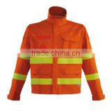 high performance poly-cotton fireman firefighter fire resistant clothing with EN ISO 11612 100 washes