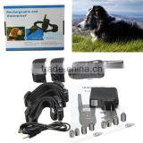 Hot Sale LCD Rechargeable and Waterproof New Black 100LV Level Shock Remote Control 2 Dog Electric Training Collar