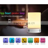 New gift portable led lamp bluetooth mini wireless speaker with alarm tf card time setting