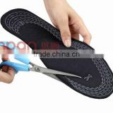 Adjustable size carbon fiber insole heated warm insoles cushion insoles health care hand made shoe insole