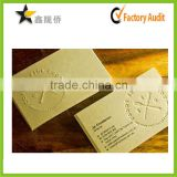 2015 China Custom Luxury Embossing/Debossing Business Card Printing                                                                         Quality Choice