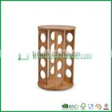 Fuboo Bamboo Revolving Spice Rack with 16 glass jars Bamboo Cruet