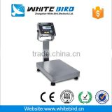 Electronic stainless steel platform weighing scale with waterproof indicator with printer