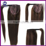 Brazilian 100% Remy Human Hair Ponytails Extension Straight Natural Black Brown Real Brazilian Human Hair Ponytails