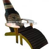 Wooden deck folding chairs
