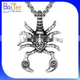 Wholesale Custom Vintage Rock Punk Gothic Style Titanium Stainless Steel Spider Pendant Necklace Pendant Jewelry For Men