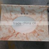 Good Price Artificial Marble Stone Molds bathroom vanity top similar with Gold Spider
