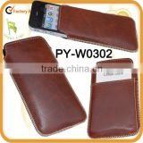 genuine european leather pouch for Apple iphone 4 and 4S