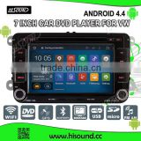 Hisound Android 4.4.4 car dvd player 1080p for vw golf 7 navigation 2013 2014 2015 Wifi&3G