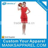 Custom Women's Red Mexico Basketball Jersey Design