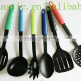 2015 Hot Sale food grade nylon colorful kitchen tool set/ kitchen accessories/ colorful bbq nylon kitchen utensil
