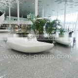 fashionable mall plant container/ interior design creative garden planter/high class shopping mall plant holder