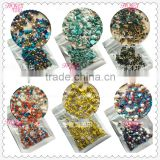 colourful mixed traditional style nail art decorations Bead the same style with the Japanese magazine
