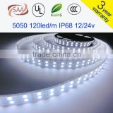 120LEDs/m Double Row SMD 5050 LED Strip 12V Silicone Tube Waterproof flexible Light 5meter/lot